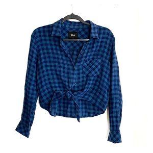 Women's crop flannel